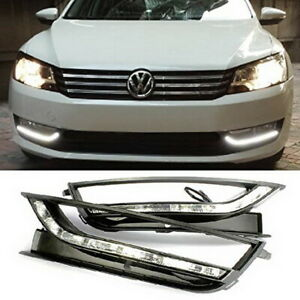 Direct Fit White Led Daytime Running Lights Drl Kit For 12 15 Volkswagen Passat