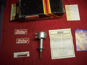 Vintage 1970 s Mallory Dual Point Distributor Big Block Mopar Engines 383 400 B