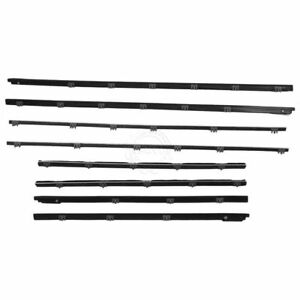 Window Sweeps Felts Weatherstrip Kit Set Of 8 For 65 Chevy Chevelle Coupe