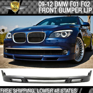 Fits 2009 2012 Bmw F01 F02 7 Series B7 Style Front Bumper Lip Spoiler Valance