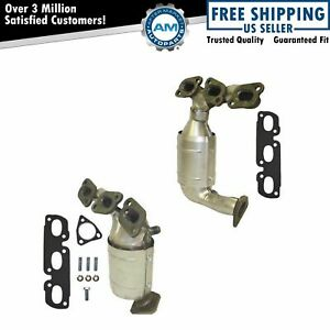 Exhaust Manifold Gasket W Catalytic Converter Left Right Pair For 02 06 Mpv