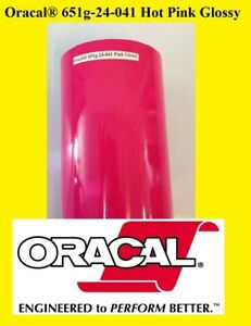 24 X 30 Ft Roll Hot Pink Glossy Oracal 651 Adhesive Cutter Plotter Sign 041
