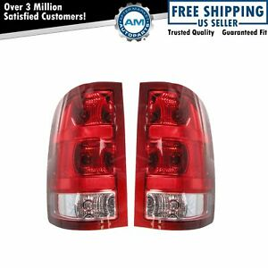 Taillamps Taillights Left Right Pair Set Rear For 07 13 Gmc Pickup Truck Sierra