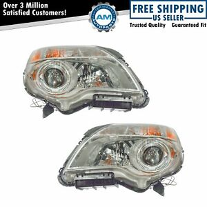 Headlight Headlamp Left Right Pair Set Of 2 For 10 13 Chevy Equinox Ltz