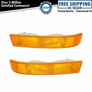 Parking Light Turn Signal Directional Lamp Pair Set Kit For 03 19 Chevy Gmc Van