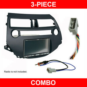 2008 2012 Honda Accord Double single Din Radio Install Dash Kit W Wire Harness