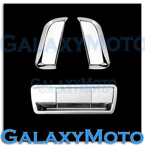 Triple Chrome 2 Rear Vertical Door Handle tailgate Cover For 04 13 Nissan Armada
