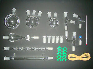 New Advanced Chemistry Lab Glassware Kit 24 40