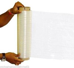 16 Roll Hand Stretch Wrap Film Banding 12 X 1500 65 Gauge