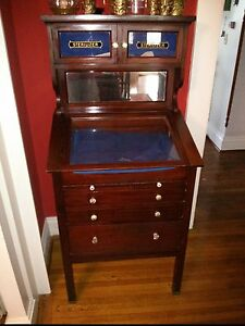 Antique Trial Lens Cabinet Turn Of The 20th Century Mahogany Optometry