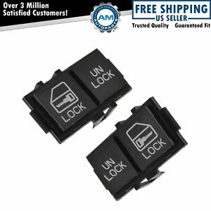 Power Door Lock Switch Button Pair Set For Chevy Pontiac Buick Cadillac