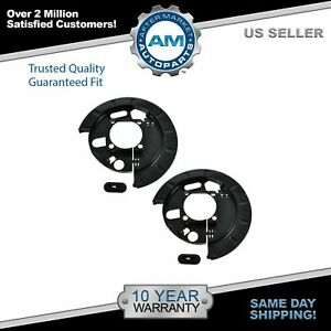 Dorman 2 Piece Rear Disc Brake Backing Plate Pair For Chevy Gmc Pickup Truck