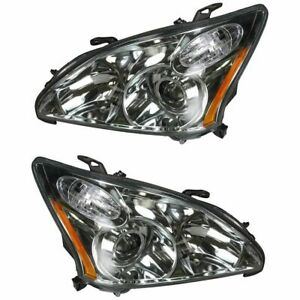 Hid Xenon Headlights Headlamps Left Right Pair Set For 04 06 Lexus Rx330