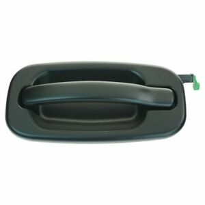 Smooth Black Rear Outside Door Handle Driver Left Lh Lr For Chevy Gmc Pickup Suv