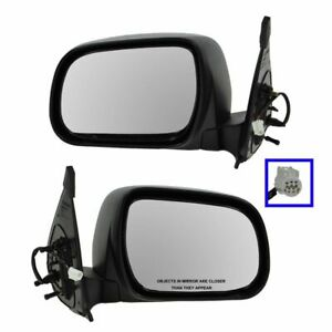 Power Textured Side Mirror Pair Set For 05 11 Toyota Tacoma Pickup Truck
