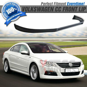 Fits 08 12 Vw Cc Euro Style Front Bumper Lip Unpainted pu Poly Urethane