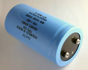 1x 3400uf 400v Large Can Electrolytic Aluminum Capacitor 3400mfd 400vdc 3 400