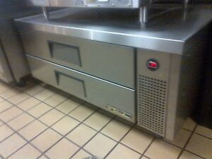 True Cold Base Refrigerated Two Drawer Unit 52 Wide