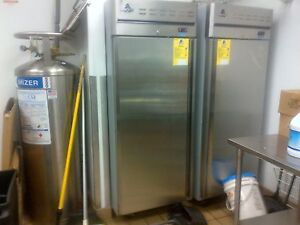 One ascend Upright Reach in Single door Freezer