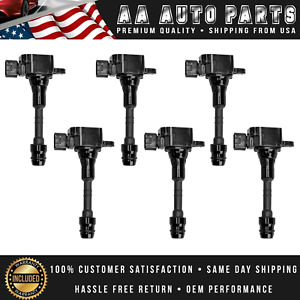 Set Of 6 Ignition Coil For Nissan Altima Maxima 3 5l Uf349 C14065 C1403