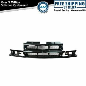 Grille Grill Black Front End For Chevy Blazer S10 Pickup Truck