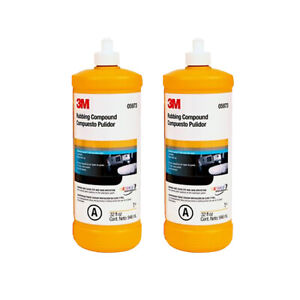 3m 05973 Rubbing Compound 1 Qt Bottles 2 Pack Buffing Polishing Scratch Remover