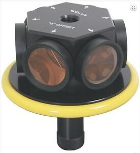 Seco 360 Robotic 86 Mm Prism Assembly Yellow For Leica
