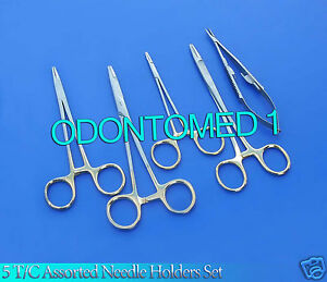 5 T c Assorted All Purpose Surgical Needle Holders With Tungsten Carbide Inserts