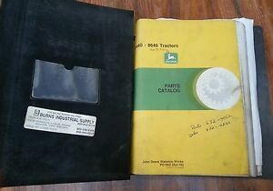 John Deere 8640 8440 Tractor Parts Catalog Manual Binder Bound Great Condition