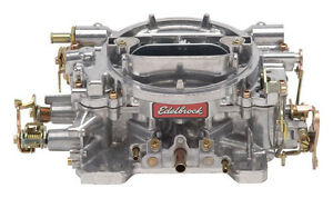 Edelbrock Carb 600 Cfm 4 bbl Manual Choke Reman P n 9905 1405 Hotrod Drag Holley