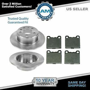 Nakamoto Rear Brake Rotor And Ceramic Pad Pair Set Kit 1154200072 For Mercedes