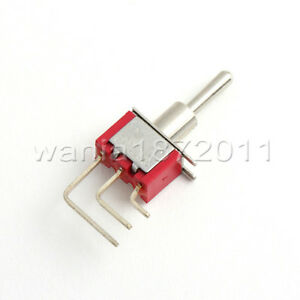 5 Mini Toggle Switch Right Angle Spdt 2 Positions On on Silver Alloy Contact