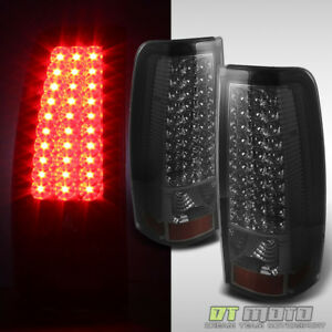 Smoked 2003 2006 Chevy Silverado Led Tail Brake Lights Stop Lamps Left Right Set