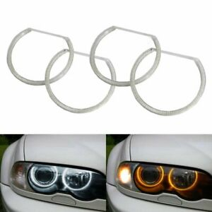 Switchback Dual color Led Angel Eye Halo Rings For Bmw 3 5 7 Series Headlight