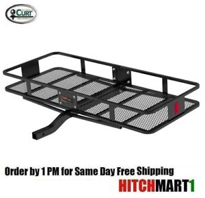 Trailer Hitch Mount Fixed Cargo Rack Basket Carrier 60 X 24 X 6 Fits 2 18152
