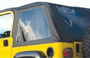 New Jeep Wrangler Soft Top 1997 2006 Black Tinted For Full Steel Doors Tj