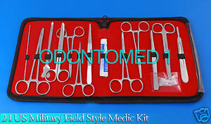 6 Sets 24 Us Military Field Style Medic Instrument Kit Medical Surgical Ds 888