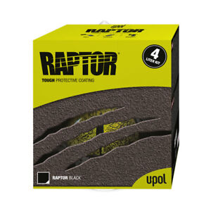U Pol Raptor Black Spray On Truck Bed Liner Paint Coating W Hardener Kit Up0820
