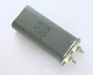 New Sprague 2uf 1000v Dc Paper In Oil Capacitor Vitamin Q American Made 2mfd