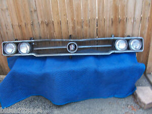 1964 Buick Wildcat Header Panel Grill Top Rail Cracked Original Used Gm Part