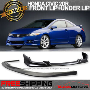 Fit 09 11 Civic 2d Hfp Style Front Bumper Lip Free Add On Lower Splitter