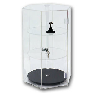 Acrylic Display Case Revolving Acrylic Case Large Showcase Jewelry Display Stand