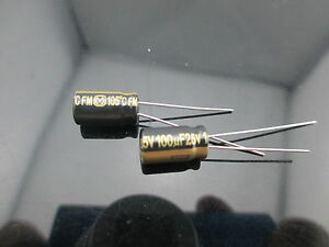 5pcs Japan Panasonic Fm 100uf 25v 100mfd Impedance Electrolytic Capacitors