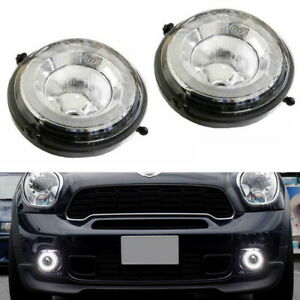 Direct Fit White Led Daytime Running Lights Fog Lamp Assembly For Mini Cooper