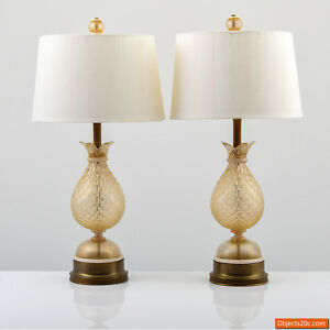 Lamps Attributed To Barovier Toso Murano Italy Martinuzzi Seguso Venini