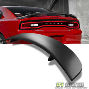 2011 2015 Dodge Charger Rear Trunk Abs Factory Spoiler Wing Daytona Matte Black