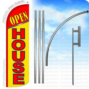 Open House Windless Swooper Flag 15 Kit Feather Banner Sign Yq