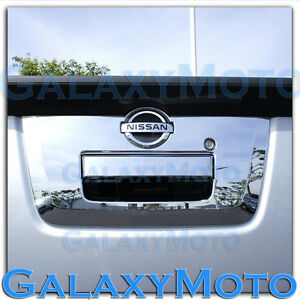 Triple Chrome Tailgate Handle W camera Hole Cover For 13 18 Nissan Frontier