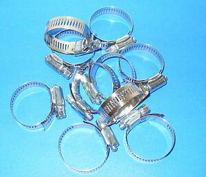 Stainless Steel Band Hose Clamp 1 1 16 2 Amgauge 24 Clamps 10 Pieces