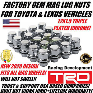 20 Oem Factory Toyota Mag Lug Nuts Also Fits Lexus 12x1 5 For Mag Seat Rims Usa